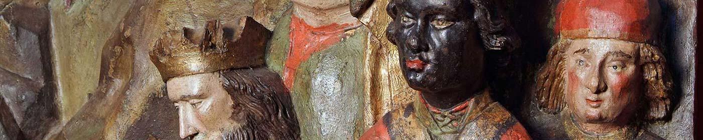 Ausschnitt des Reliefs der 3 Könige in St.Marien