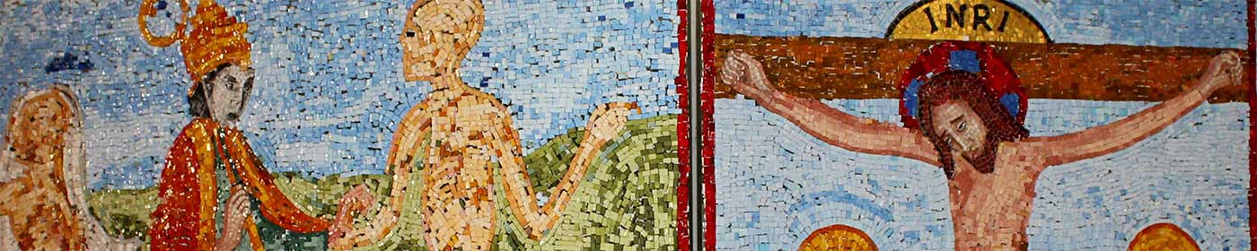 Ausschnitt des Spendenmosaiks Totentanz in der St. Marienkirche
